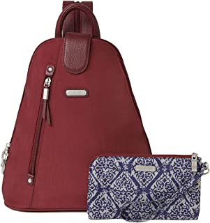 Baggallini Women's New Classic Metro Backpack with RFID Phone Wristlet