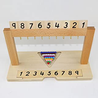 Preschool Montessori Math Counting Learning Toy 1-1000 Caculate Beads Frame