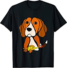 Smileteespetsa Funny Beagle Hound Dog with Rubber Chicken T-Shirt