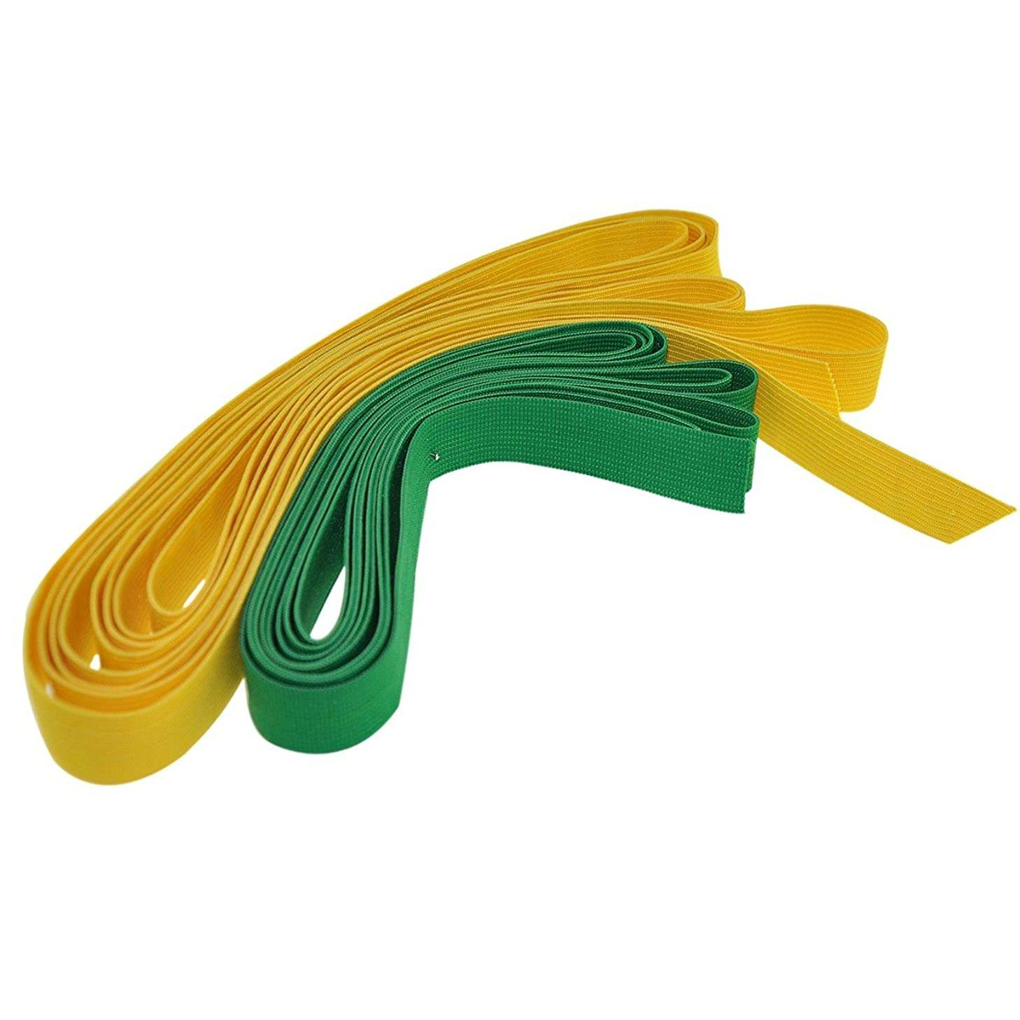 Braided Elastic Roll Combo (Sea Green and Bright Yellow) 0.8 inches 2.2 yds - Flat Knit Elastic - YazyCraft