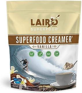 Laird Superfood Vanilla Coffee Creamer Powder - Made with Real Vanilla | Non-Dairy | Non-GMO | MCT | Vegan, 16oz Bag