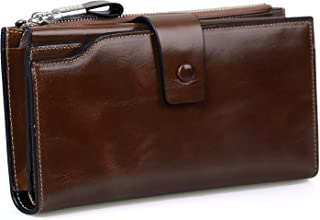 Women's RFID Blocking Luxury Genuine Leather Clutch Wallet Card Holder Organizer Ladies Purse,WB301