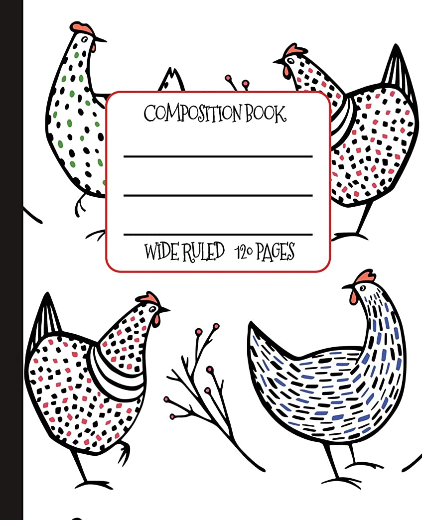 スポークスマンエンターテインメントでWide Ruled Composition Book: Whimsical Speckled Hens Themed Composition Notebook for school, work, or home!  Keep your notes organized and a smile on your face! Wonderful gift for anyone who loves Chickens! (Chicken Lovers Composition Books)