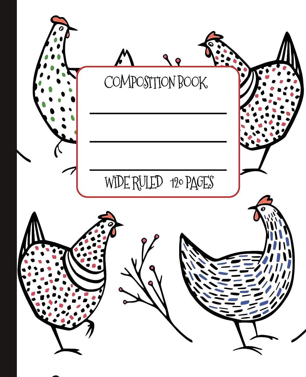 幽霊拡声器クラスWide Ruled Composition Book: Whimsical Speckled Hens Themed Composition Notebook for school, work, or home!  Keep your notes organized and a smile on your face! Wonderful gift for anyone who loves Chickens! (Chicken Lovers Composition Books)