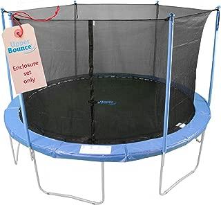 Upper Bounce Trampoline Safety Enclosure Set of Net, 6 Poles & Hardware, Fits 14 FT. Round Frame - Installs Inside Frame