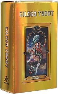 78 kort guldtarotkort, tarotkortdäck är hologrampapper med blixteffekt, klassiskt design Tarotkort Deck Tarot Cards Set, n...