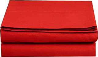 Best red king flat sheet Reviews