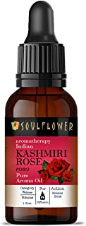 Soulflower Aroma Diffuser Oil - Indian Kashmiri Rose - 100% Pure, Organic, Natural, Alcohol-Free, Chemicals Free, No Synth...