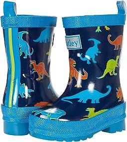 Linework Dinos Shiny Rain Boots (Toddler/Little Kid)