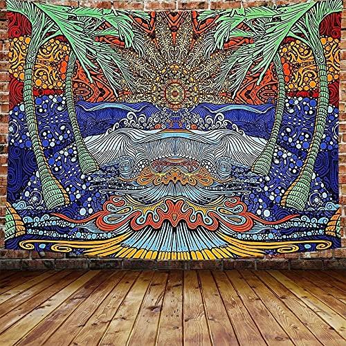 XZPQSSW Tapicería psicodélica Castillo de Setas Tapiz Cuento de Hadas Tapicería Forestal Colgante de Pared Tapas de Paisaje para decoración de Dormitorio Tapiz (Color : 3, Size : 200x150cm)