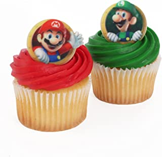Super Mario Officially Licensed 24 Cupcake Topper Rings