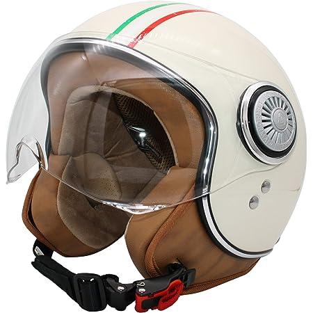 Soxon Sp 325 Couleur Jet Helm Motorrad Helm Roller Helm Scooter Helm Moped Mofa Helm Chopper Retro Vespa Vintage Pilot Biker Helmet Ece 22 05 Visier Schnellverschluss Tasche Xs 53 54cm Auto