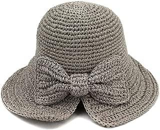 Sun Hat for men and women Spring Summer Sombrero New Women's Folding Outdoor Sunscreen Beach Sun Hat Visor Handmade Crochet Straw Hat Bow