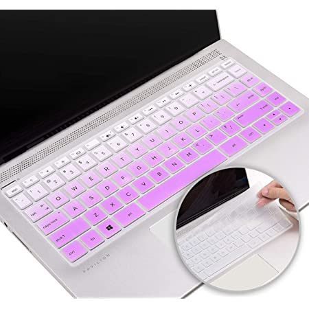 with Squared Keypad Keyboard Cover Skin for 2019 2018 HP 14 inch Keyboard Cover for HP Pavilion x360 14M-BA 14M-CD 14-BF 14-BW 14-cm 14-CF Series 14 Laptop Keyboard Cover Protector Ombre Mint