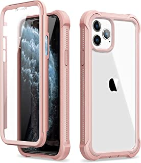 Dexnor iPhone 11 Pro Case with Screen Protector Clear Rugged Full Body Protective Shockproof Hard Back Defender Dual Layer...