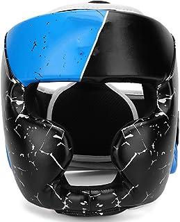Eosnow Ochraniacz głowy boksu, materiał ze skóry PU dziecięce kaski bokserskie na całą twarz chronią bezpieczeństwo i skut...