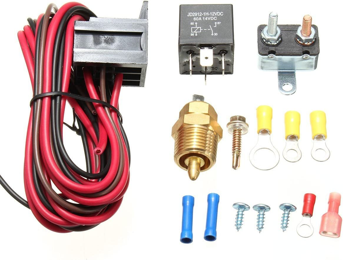 Amazingli Brand new quality assurance 175 to 185 Degree Cooling Fan Thermostat Temp Kit Sens