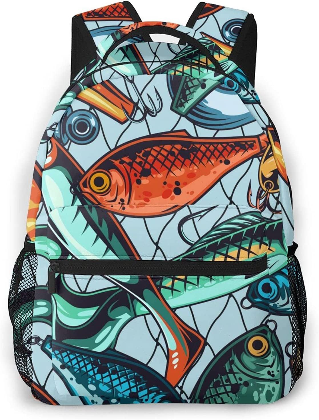 Fishing Lure Ranking TOP17 Style Backpack Laptop Shoul Daypack Hiking Super beauty product restock quality top