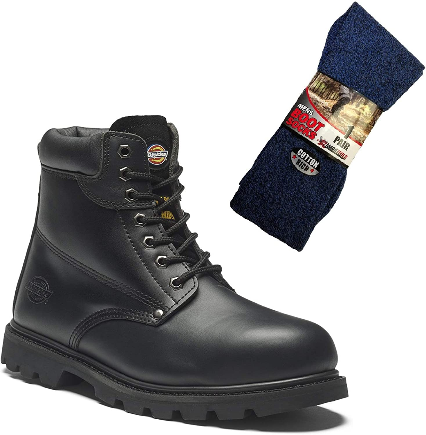 Dickies Cleveland Safety Work Boots and Boot Socks
