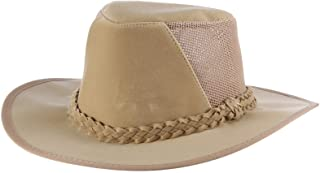 Dorfman Pacific Men's Soaker Hat with Mesh Back, Natural, Large/X-Large