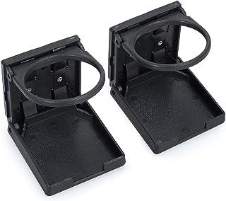 AUTOUTLET 2PCS Universal Adjustable Folding Cup Drink Holder Waterproof Cans Plastic Holders Portable 75MM Diameter Car Truck Boat Van, Corrosion-Resistant