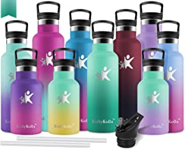 Joy en bouteille Sports Bouteille deau avec paille et poign/ée 100/% sans BPA /à la poussi/ère Cap bouteilles deau pour randonn/ée Camping 765,4/gram 800/ml Bleu