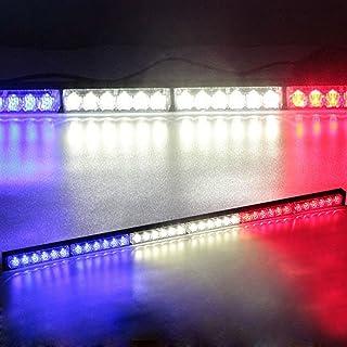 FineCool 60Camion Hayon LED Barre Lumineuse Frein Inverse Clignotants Stop Bande de Queue Bleu Blanc et Jaune Trois Couleurs commutateur LD2298