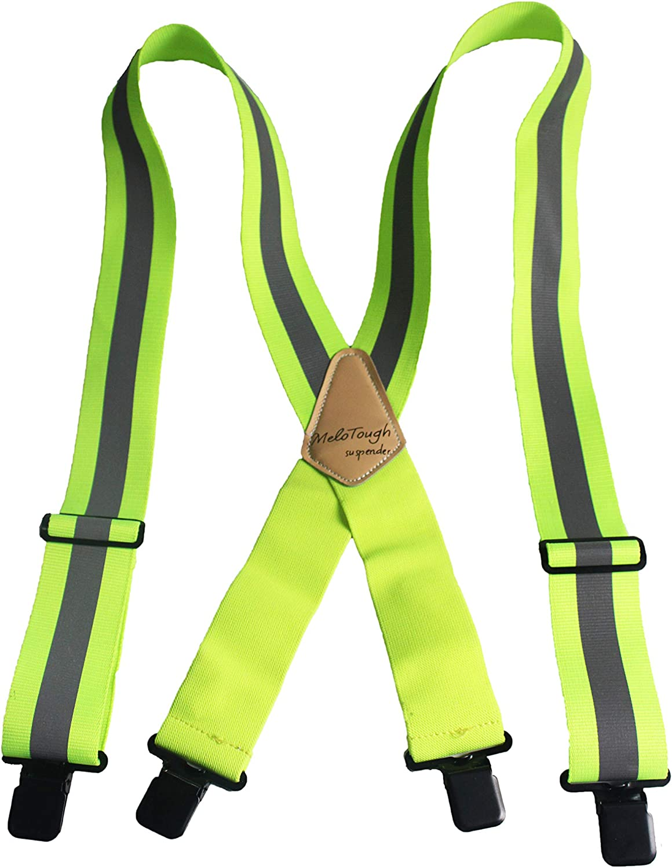 Reflective Safety Suspenders Work Suspenders with Hi Viz Reflective Strip Hold Up Tool Belt Suspenders…