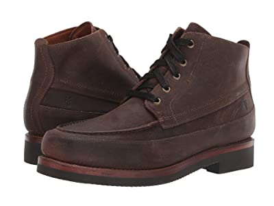 Frye Field Lace-Up (Dark Brown Waxed Suede 2) Men