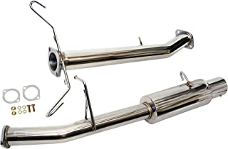 CarXX Catback Exhaust System Compatible with Mazda RX-7 FC3S Turbo II 1.3L 13B 1986-1995 Stainless Steel 4 Inch Tip Exhaust System with Gaskets and Hardware