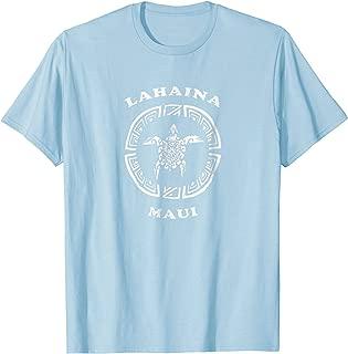 Lahaina Maui T-Shirt Vintage Tribal Turtle Gift Tshirt