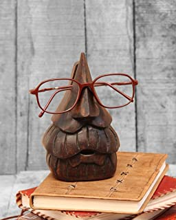 Kamla Sellers Wooden Nose Shaped Eyeglass Spectacle Holder Display Stand Home Decorative (Beard Spec)