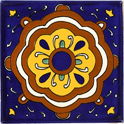 Tierra y Fuego Box of 45-4¼ x 4¼ Reloj - Talavera Mexican Ceramic Tiles