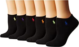 6-Pack Flat Knit Ultra Low Cut Socks