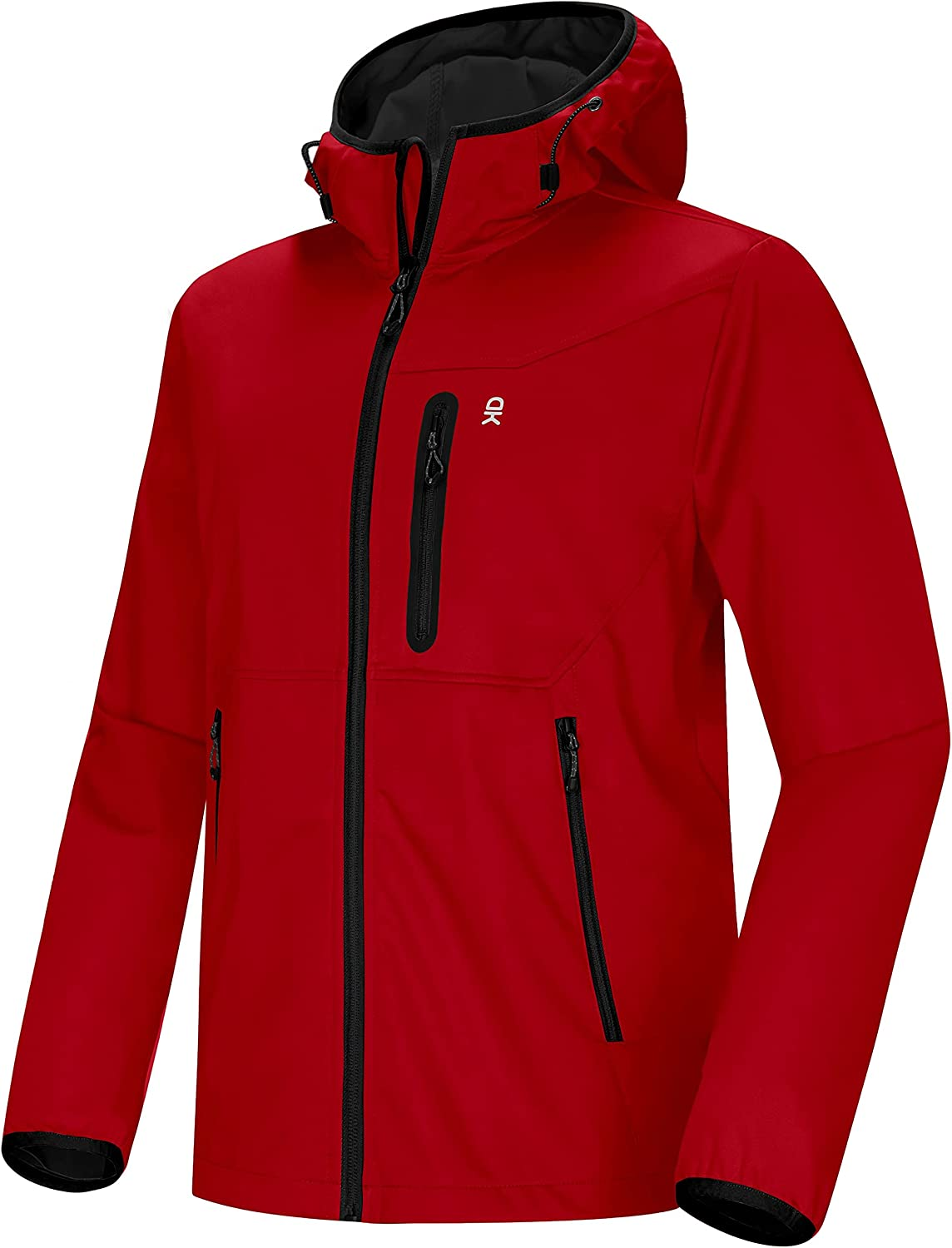 Little Donkey Andy Men's Lightweight Windbreaker, Softshell Jacket with Hood for Running Travel Hiking : Clothing