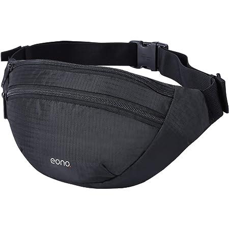 Amazon Brand - Eono Bauchtasche Wasserabweisend Gürteltasche für Damen und Herren Hüfttasche mit Mehreren Taschen und Verstellbarem Bund für Reisen, Sport, Fitness, Wanderung und Outdoor-Aktivitäten