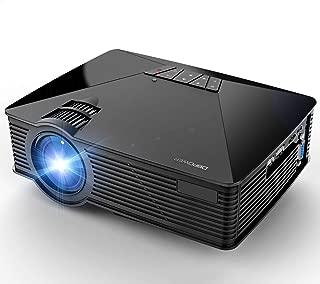 Mini Projector, DBPOWER GP15 +50% Brighter Portable LCD Mini Video Projectors,50000Hours Support 1080P HDMI USB SD Card VGA AV for Multimedia Home Cinema, Movie, TV, Laptops, Games, Smartphones, Black