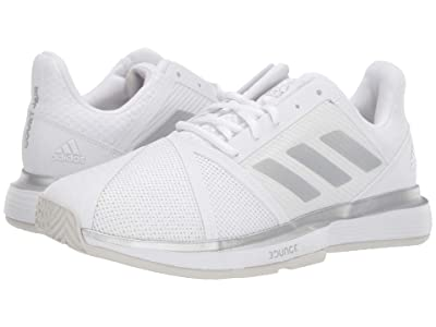 adidas CourtJam Bounce Wide (Footwear White/Matte Silver/Grey One F17) Women