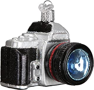Old World Christmas Glass Blown Ornament with S-Hook and Gift Box, House Collection (Camera)