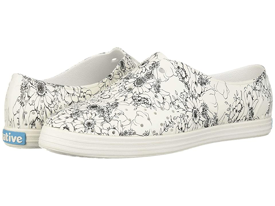 Native Shoes Jericho (Shell White/Shell White/Black Jardin) Women