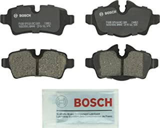 Bosch BC1309 QuietCast Premium Ceramic Disc Brake Pad Set For 2007-2015 Mini Cooper; Rear