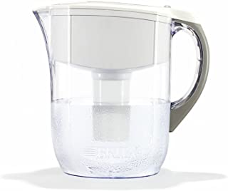 Brita Large 10 Cup Water Filter Pitcher with 1 Standard Filter, BPA Free – Grand, White