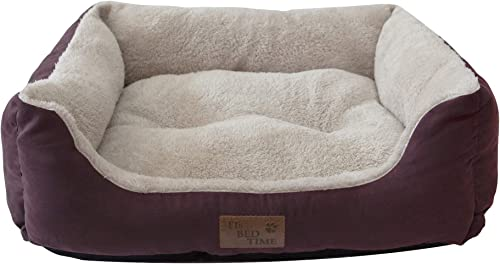Its Bed Time - Premium Dog Bed - Raised Sides For Comfortable Sleep Positions - Non-Skid Bottom - Water Resistant Cov...