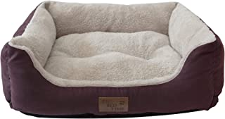 Its Bed Time - Premium Dog Bed - Raised Sides For Comfortable Sleep Positions - Non-Skid Bottom - Water Resistant Cover - Luxurious Plush Bedding - Machine Washable - Available In Small/Medium/Large (Large, Red)