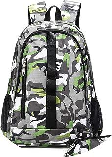 High School Bags for Teenagers Unisex Travel Shoulder Bag Rucksack Mochila Escolar,Green