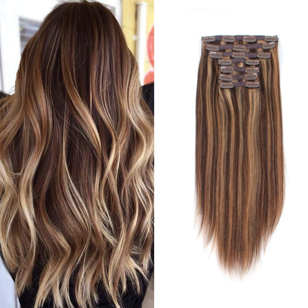 Sassina 100% Remy Human Hair Extensions in Genuine Free Shipping Color Regular discount Highlights Clip