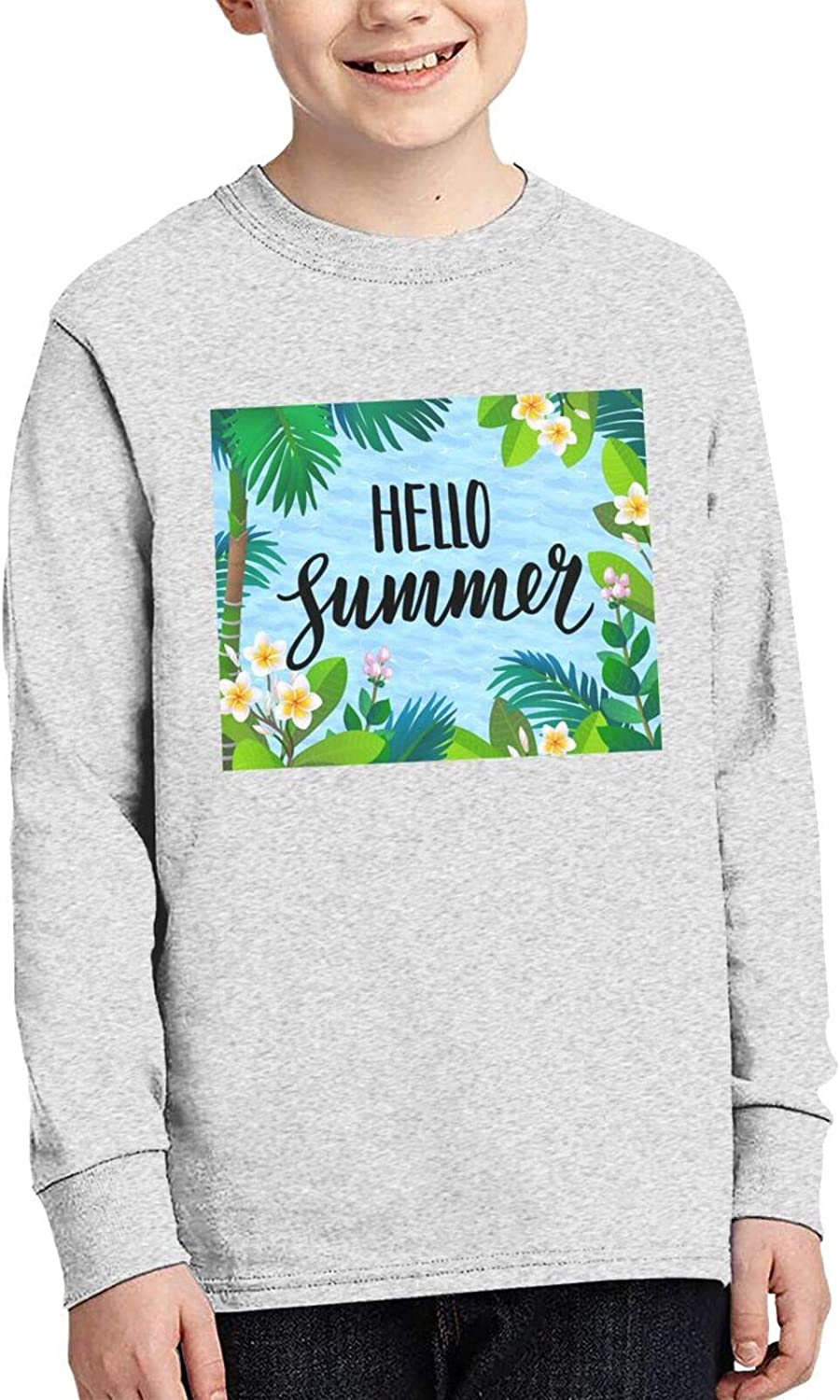 Hello Summer Large discharge sale Banner Popular overseas Sweater Fashion Comfortable and S Children's