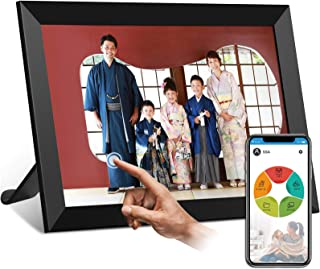 moonka wifi デジタルフォトフレームwifi対応 画面10.1インチ 人感センサー 1280*800高解像度 タッチパネル 写真や動画再生 スライドショー IPS タッチパネル 広角視野 無料アプリ プレゼント用 日本語説明書