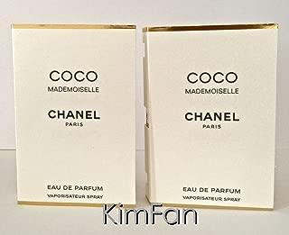 LOT OF 2 COCO MADEMOISELLE Eau de Parfum .05oz /1.5ml carded Spray sampler