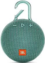 JBL JBLCLIP3TEAL Clip 3 Portable Waterproof Wireless Bluetooth Speaker - Teal, 6.5 X 4.3 X 2